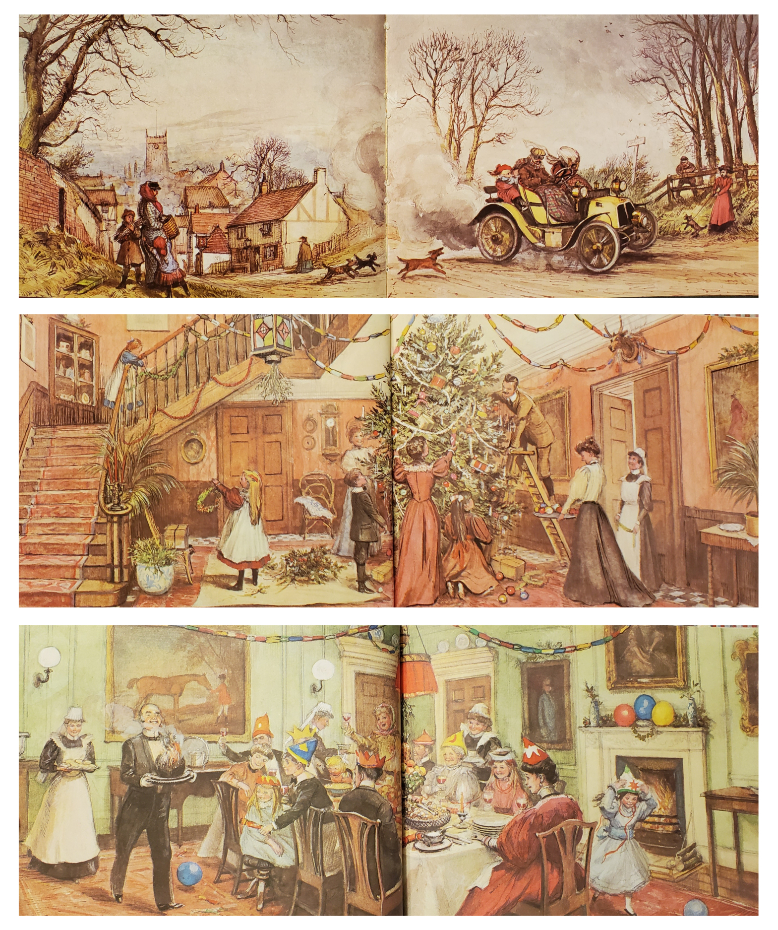 An Edwardian Christmas illustrations