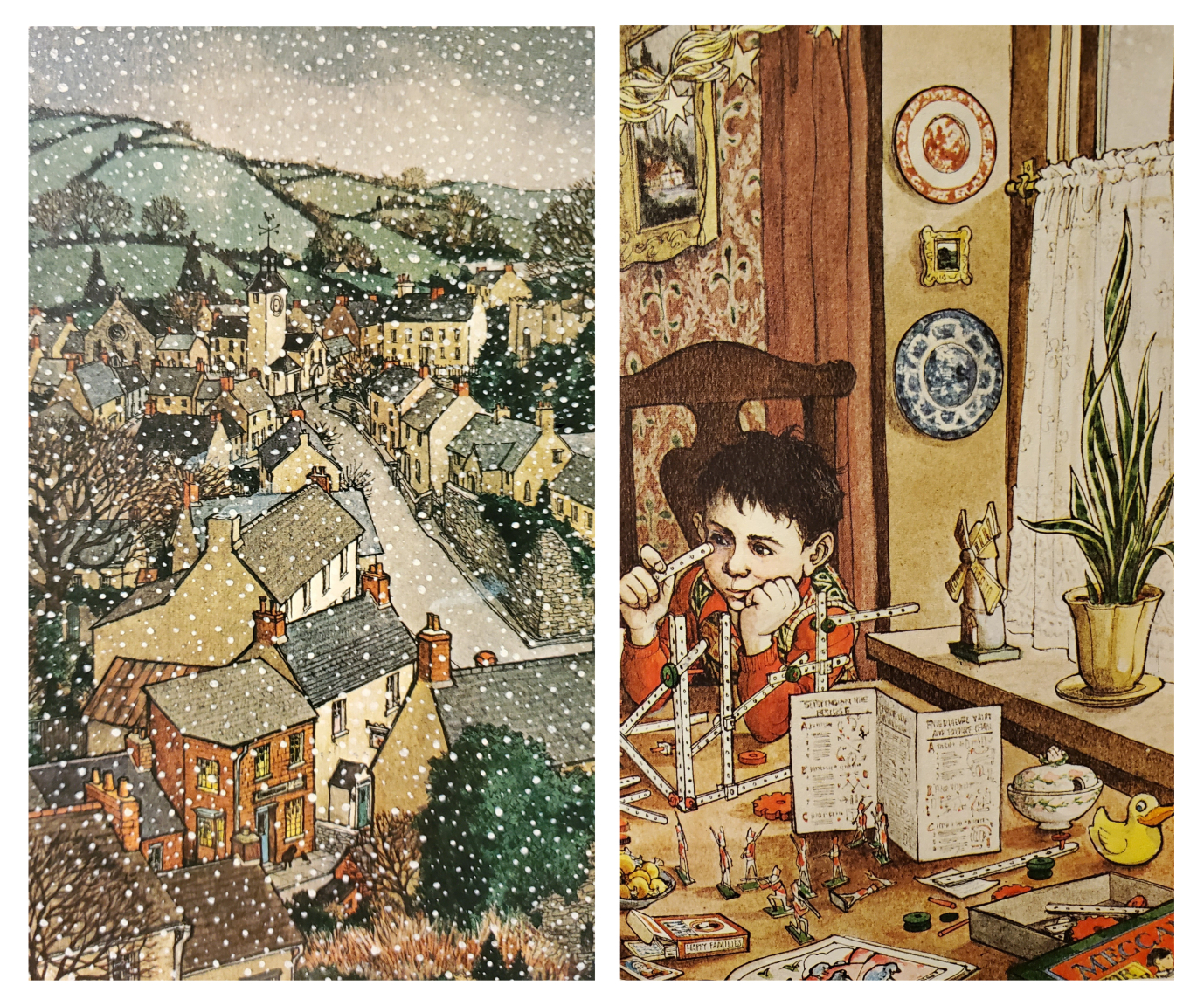 A Child's Christmas in Wales illustrations