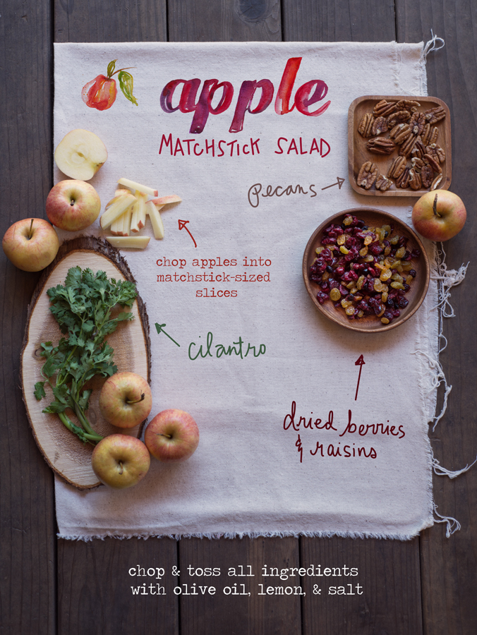 apple matchstick salad recipe