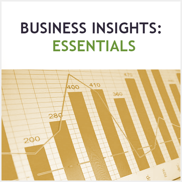business insights bar graph logo