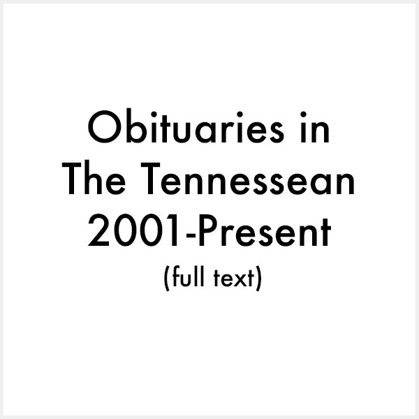 obituaries in the tennessean 2001 present