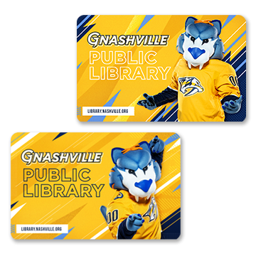Nashville Preds Themed Library Cards