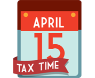 tax time calendar illustration