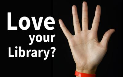 love your library? volunteer