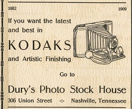 Ad for Dury's Photo Store