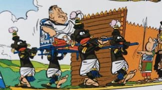 panel from an Asterix comic book