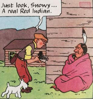 panel from Tintin in America