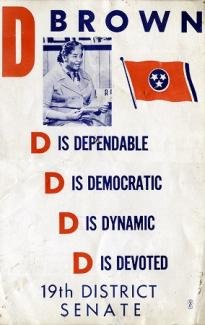 Dr. Dorothy Brown poster when she ran for TN state senate