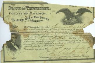 Voter registration card for George Marsh, dated 1867