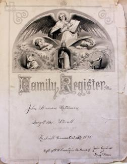 Family register from the John Herman Ratterman Collection