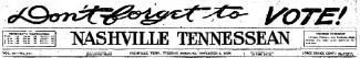 Tennessean masthead for November 2nd, 1920