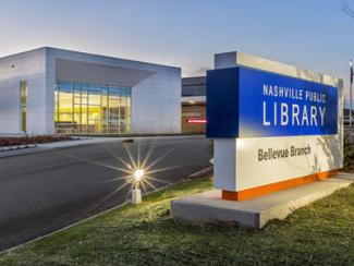 exterior of bellevue branch library